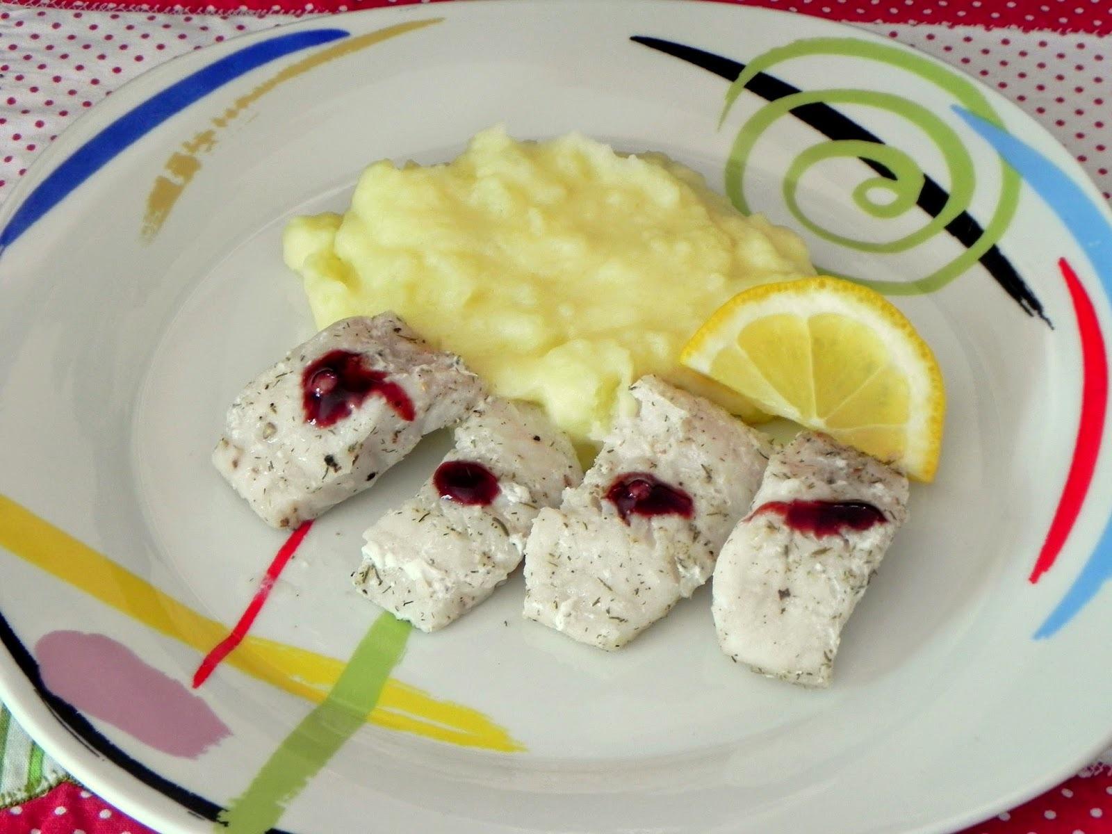 Peixe ao Limão e Purê de Batatas com Alho