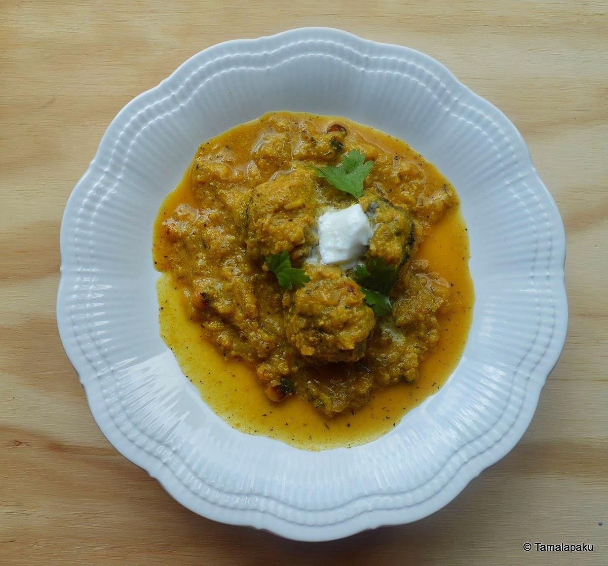 Cabbage-Chana Dal Kofta Curry