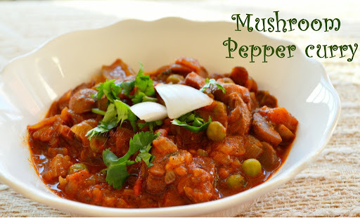 Mushroom Pepper Curry