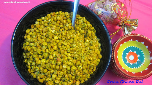 Green Chana Dal /Chatpati hari (green) Chana Dal -Easy Diwali Snack