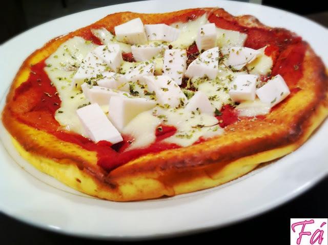Pizza sem farelos Dukan