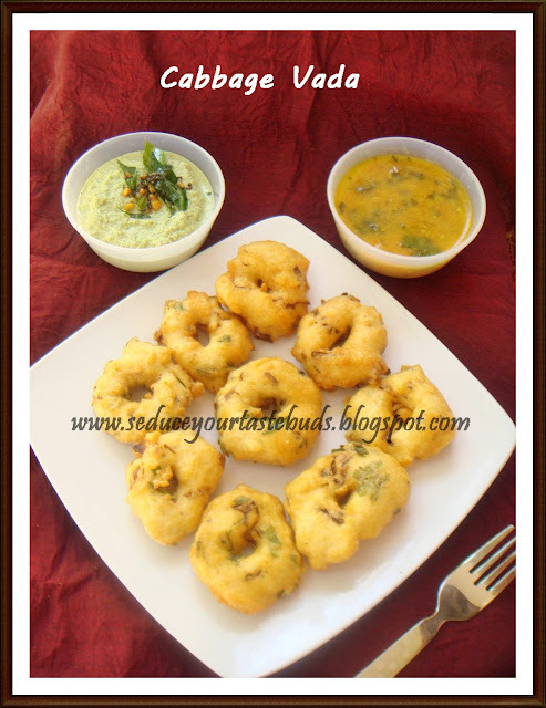 Cabbage Vada | Urad Dhal Fritters With Cabbage