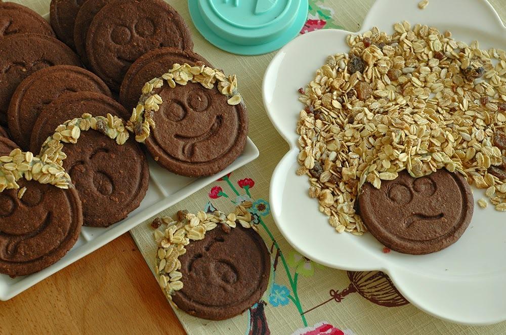 Galetes d'espelta i xocolata