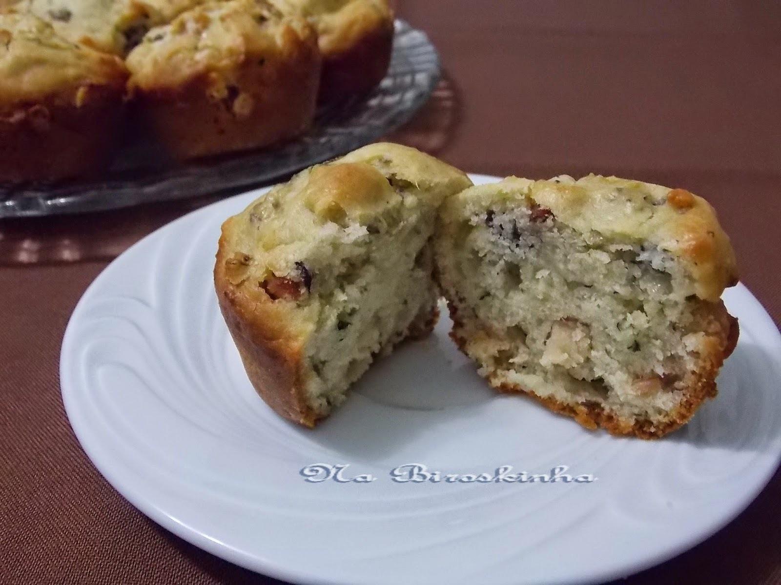 Muffins de Gorgonzola e Bacon