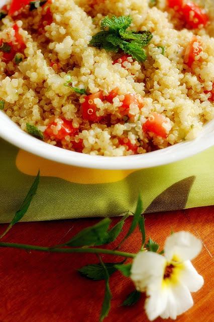 de tabule de quinoa em flocos