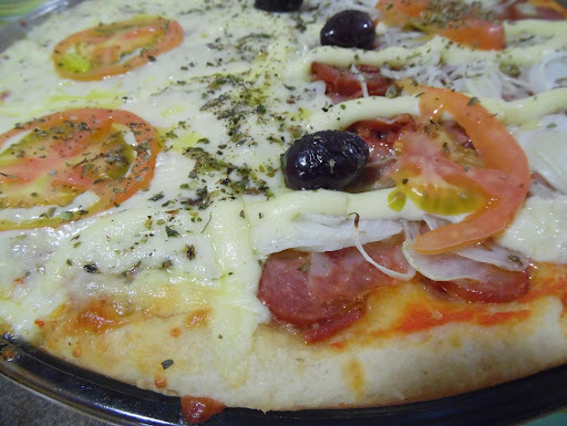 pizza caseira no liquidificador