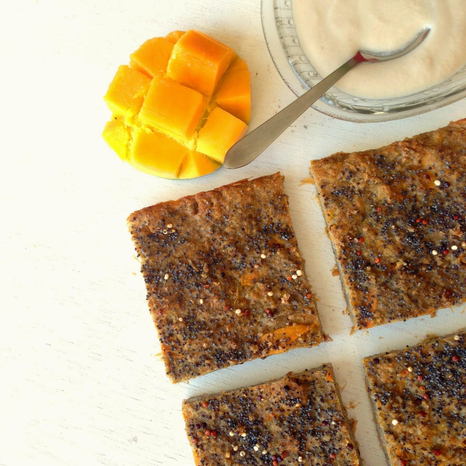 Torta de pan y mango