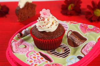 Raspberry velvet cupcakes from GoBake