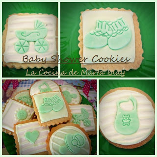 GALLETAS DECORADAS BAUTIZO VERDES