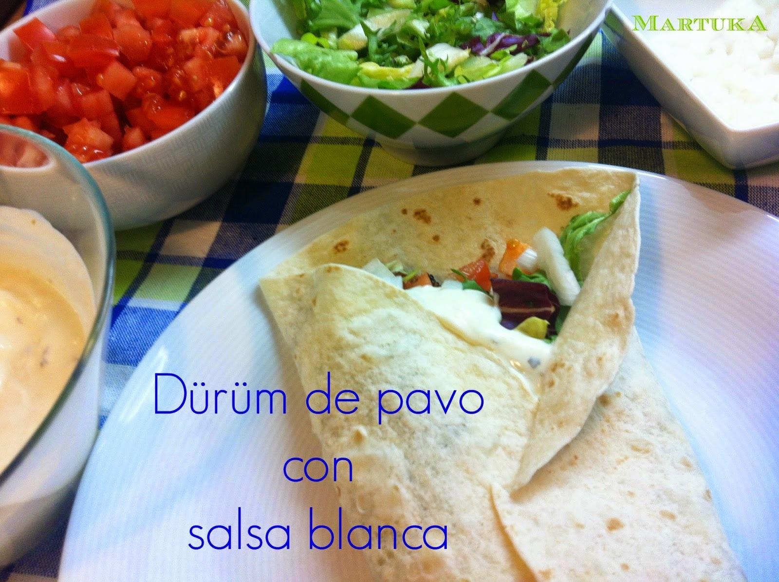Dürüm De Pavo Con Salsa Blanca