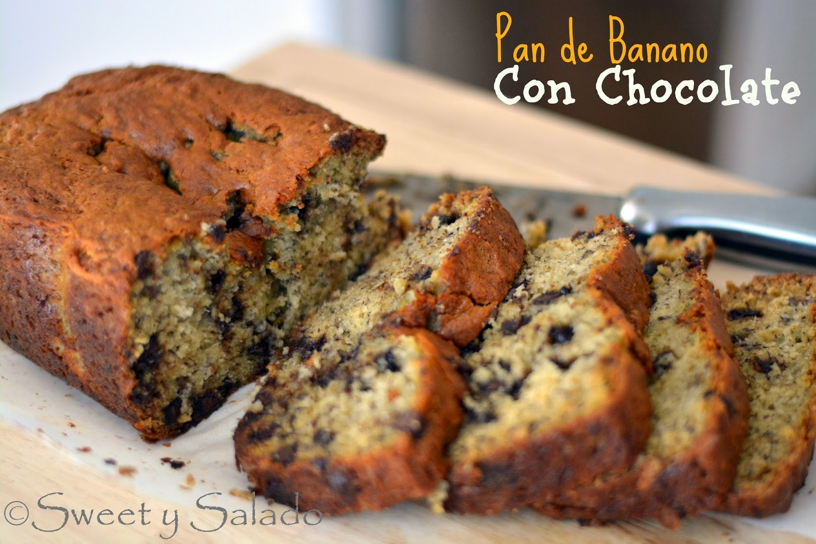 Pan de Banano Con Chocolate