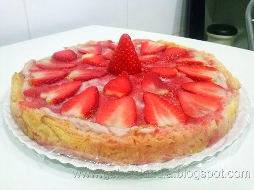 Tarta de fresa , receta casera
