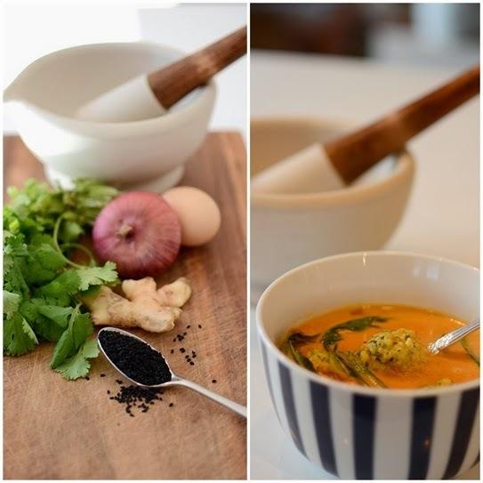 Creamy Coconut & Tomato Soup With Fish Balls - Gluten Free