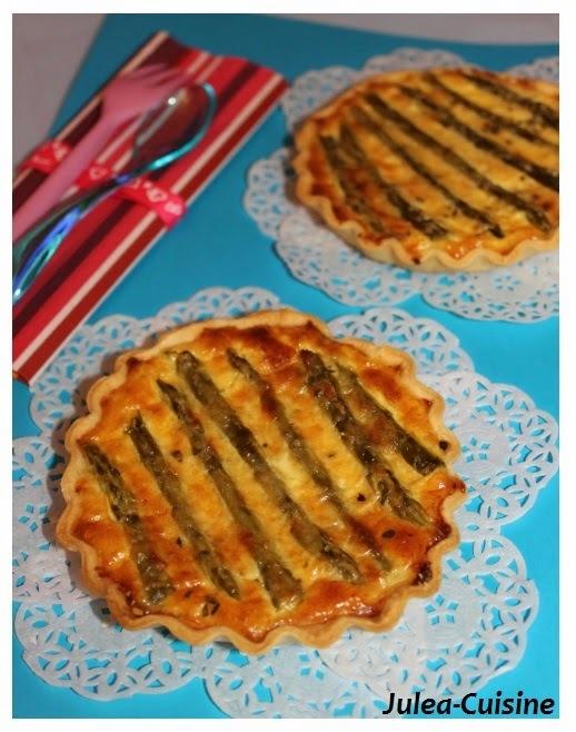 Quiches individuelles poulet asperges et parmesan