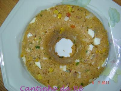 cuscuz de frango com milharina