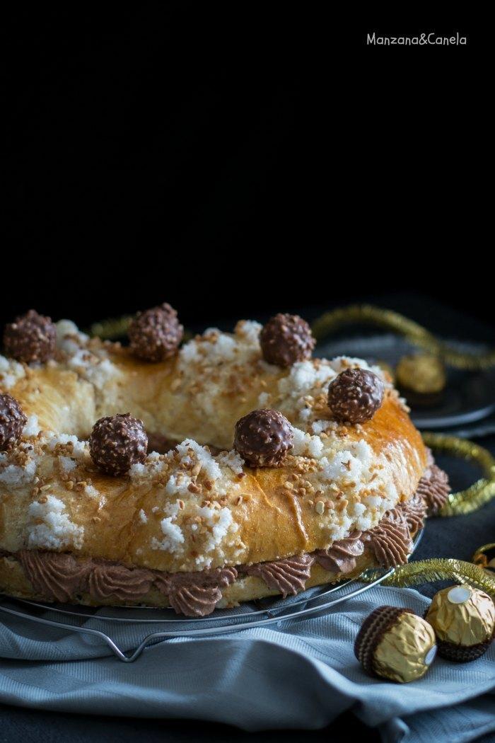 Roscón de Reyes Ferrero Rocher® (con masa madre). Receta de Navidad #RoscónDay