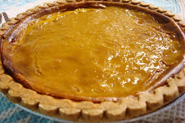 Torta de abobora ( pumpkin pie )