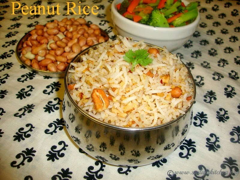 Peanut Rice Recipe / Kadalai Sadam Recipe / Verkadalai Sadham - Easy Lunch Box Recipes