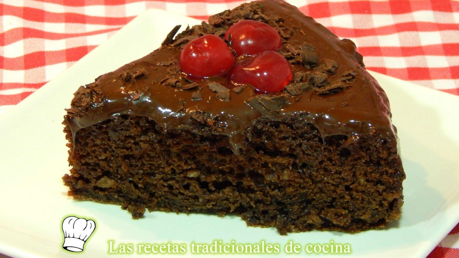 Receta fácil de tarta de chocolate