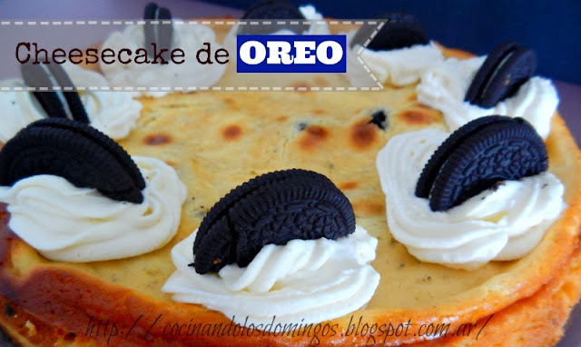 CHEESECAKE CON GALLETAS OREO
