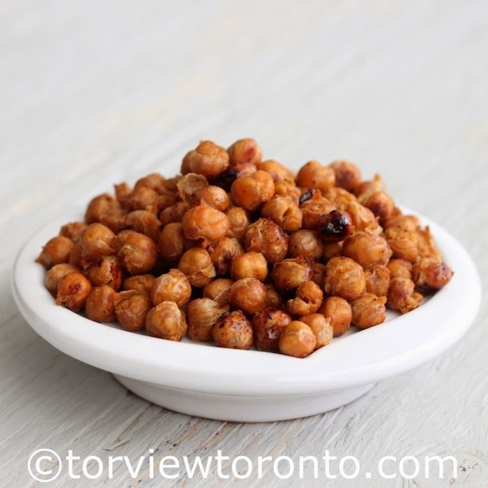 Roasted Chickpeas Recipe and Win a Copy of Vegan Beans Book
