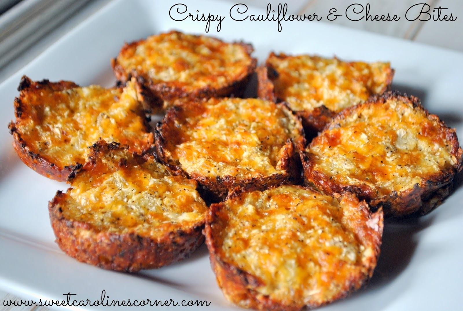 Crispy Cauliflower & Cheese Bites/Aperitivo Crocante de Couve-flor & Queijo