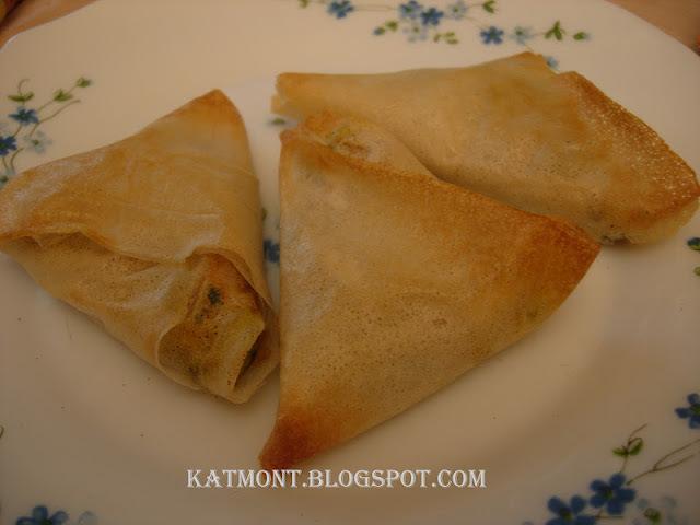 Chamuças vegetariano ou pastel indiano