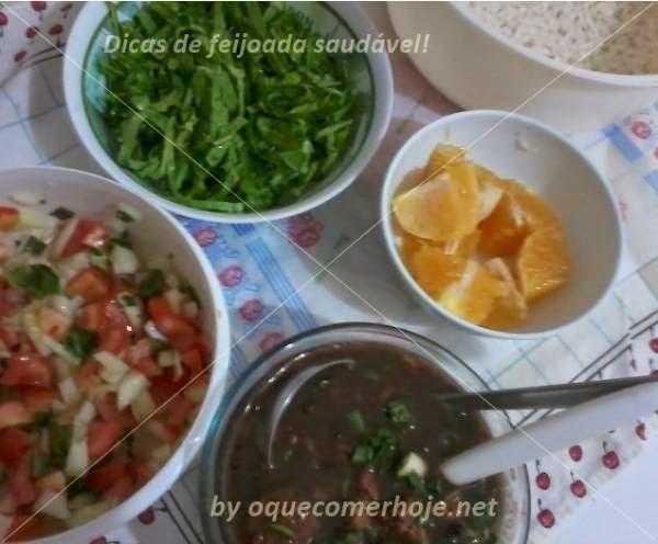 ingredientes para feijoada sem carnes de porco