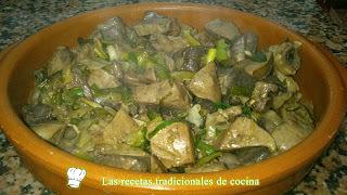 Receta de hígado de Cordero con ajos tiernos