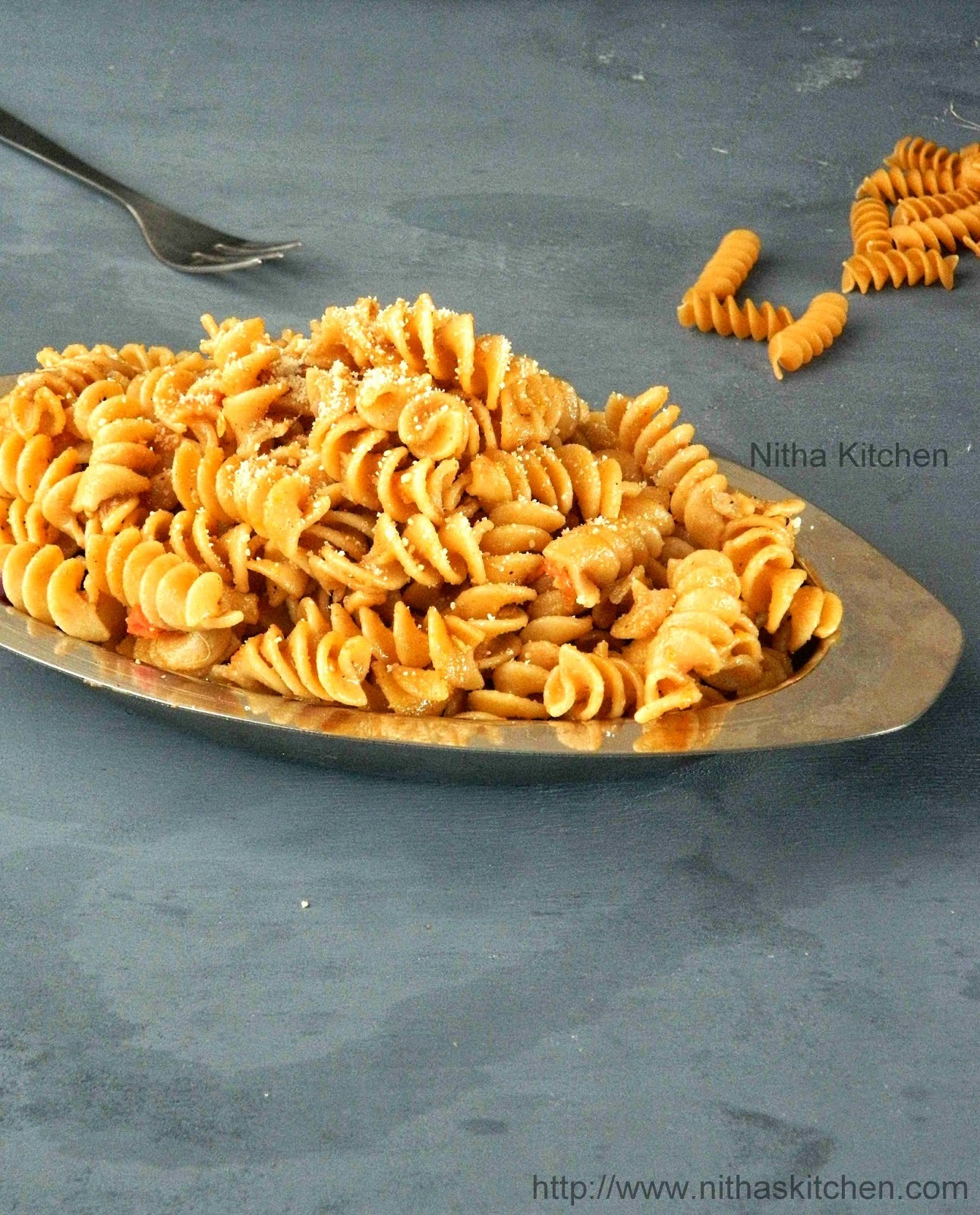 Indian Style Curried Pasta Recipe | Quick Rotini Pasta Using Leftover Chicken Curry