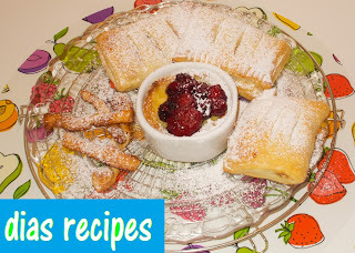 3 εύκολα γλυκάκια με σφολιάτα 3 easy puff pastry desserts