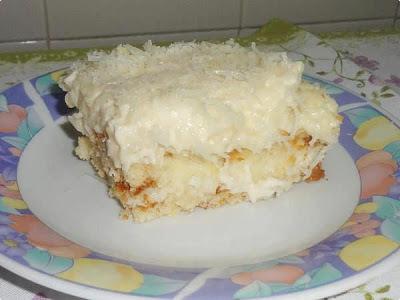 bolo gelado batido no liquidificador