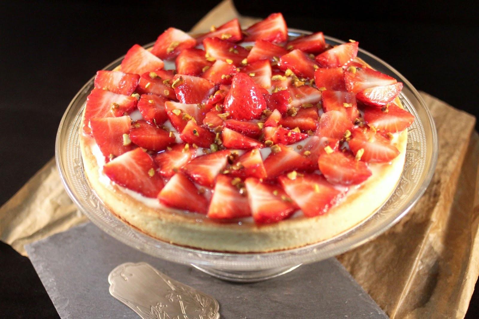 nappage tarte aux fraises gelatine
