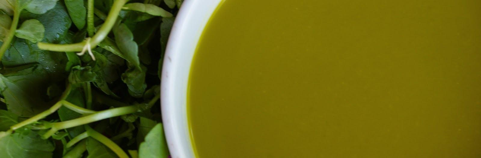 Sopa rápida de agrião (vegan)