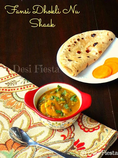 Fansi Dhokli Nu Shaak / French beans dumpling curry  ( Gujurati curry )