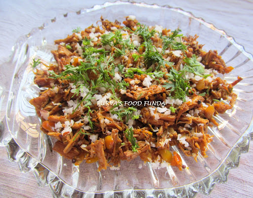 Phanasachi Bhaji (Raw Or Young Jackfruit Dry Curry)