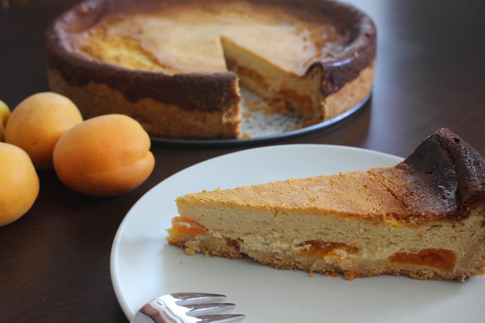 Tvarohovo marhuľový koláč