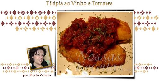 Tilápia com Vinho e tomates