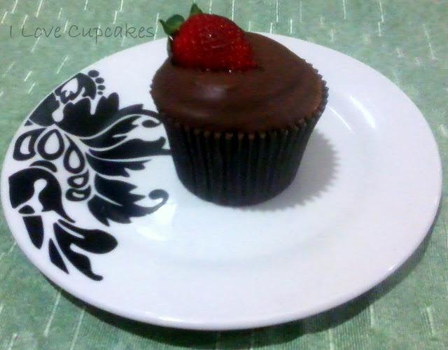 como banhar cupcake no chocolate