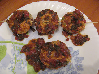 BAKED VADAI  IN HOT GARLIC SAUCE