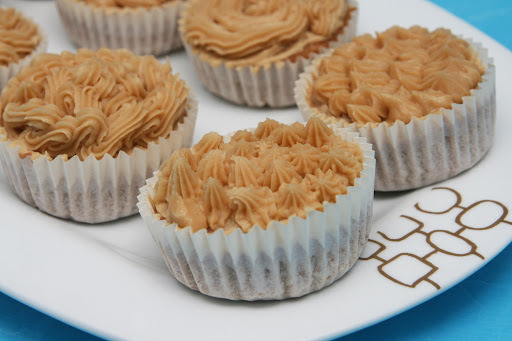 Cupcakes de café y nueces