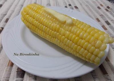 de milho cozido tudo gostoso