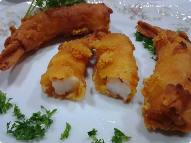 como congelar peixe frito com molho de camarão