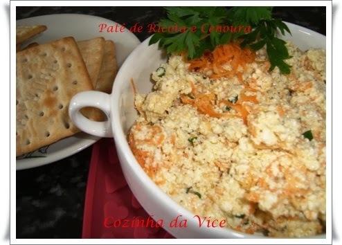 pate de cenoura cebola maionese e azeite