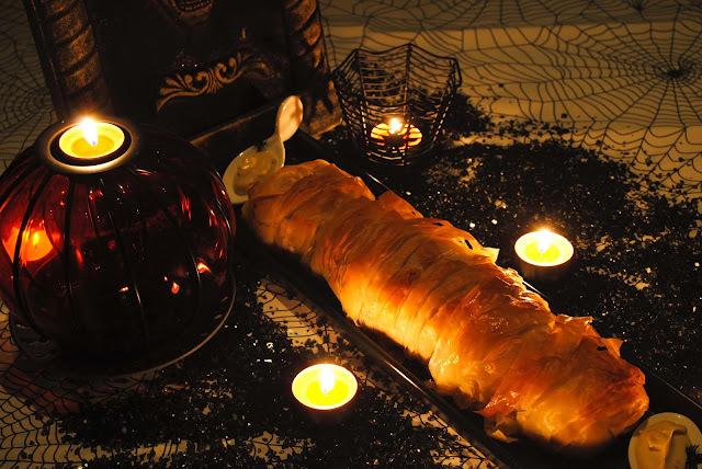 Momia de solomillo a la mostaza y manzana
