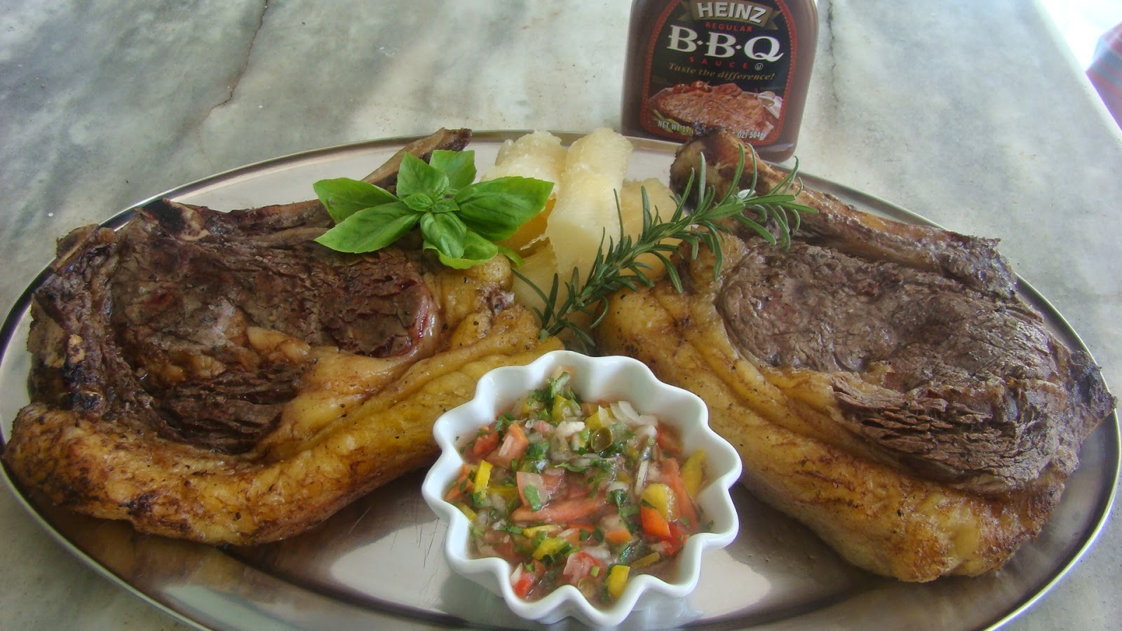 T-Bone Assado na Churrasqueira