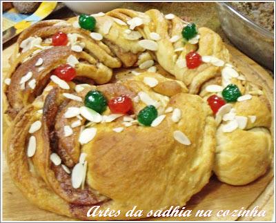 O pãozinho de natal e nossa farra na cozinha