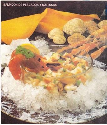 Salpicon de pescados y mariscos