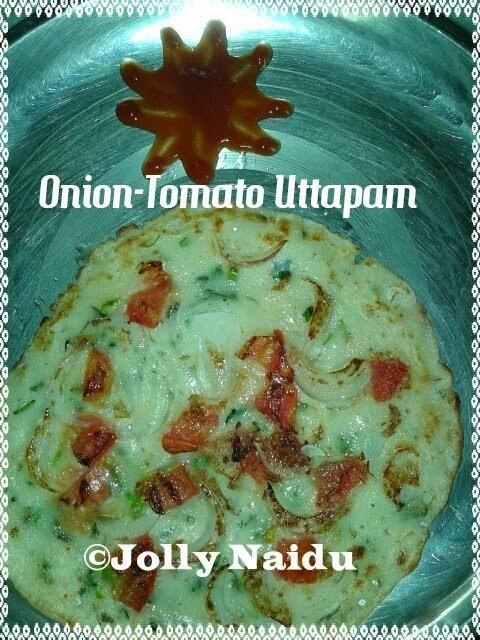 Delicious Onion-Tomato Uttapam | Veggie Pancake