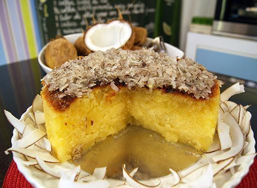 bolo de puba fresca com leite condensado